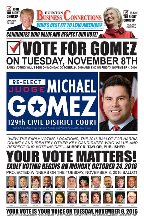 JUDGE MICHAEL GOMEZ VALUES OUR VOTE, SUPPORT AND COMMUNITY