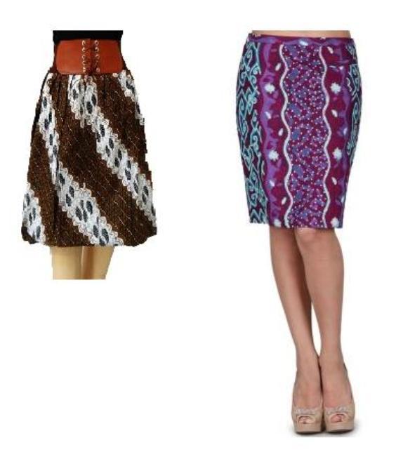 contoh model terbaru rok batik pendek cocok dipadukan dengan kebaya