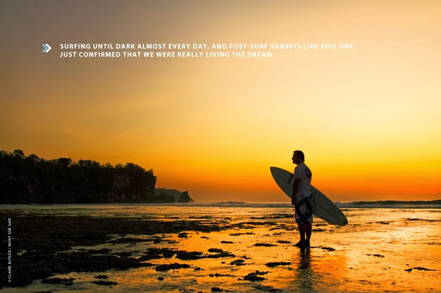 Sunset surfer on the Bukit Peninsula, Bali, Indonesia by Cape Town surf photographer Claire Butler (What She Saw)