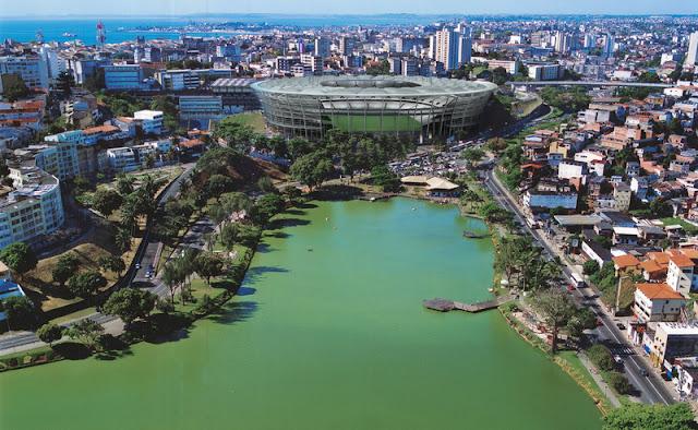 Foto do projeto da Arena Fonte Nova, em Salvador, Bahia, o estádio será usado na Copa do Mundo de 2014