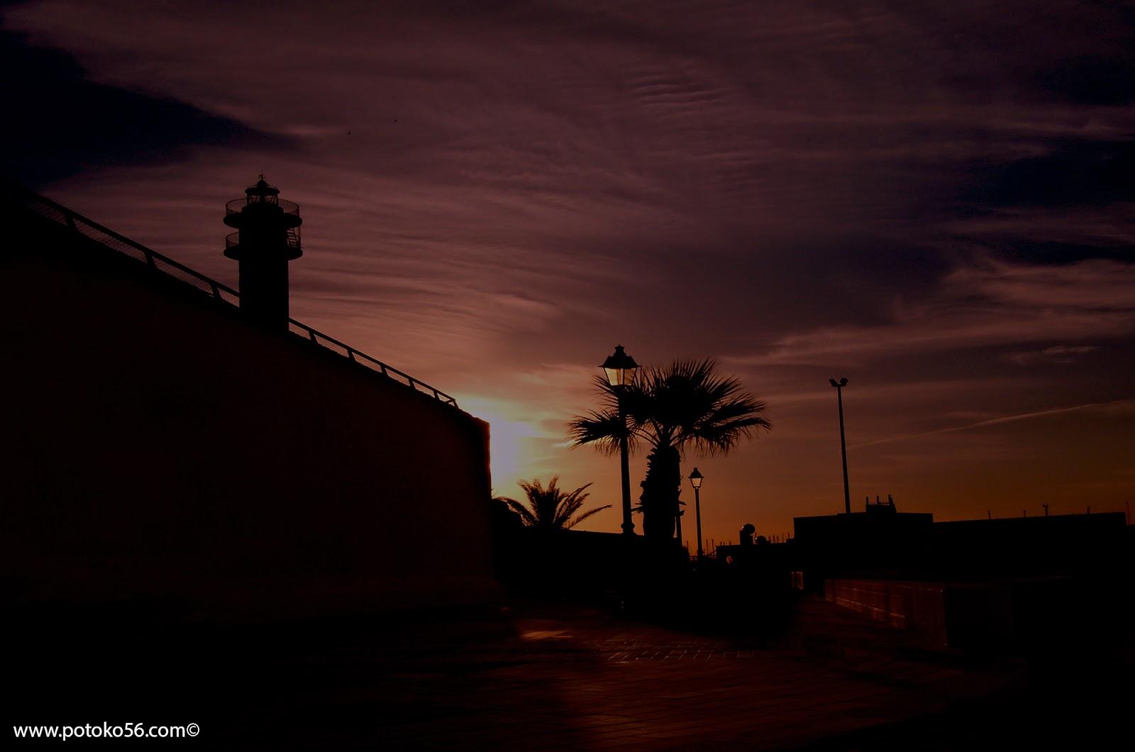 fotografía de una mañana en Rota al amanecer