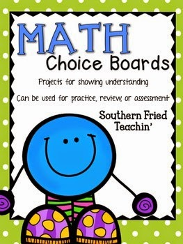 http://www.teacherspayteachers.com/Product/Math-Choice-Boards-math-projects-for-all-units-4th-5th-6th-grade-927975