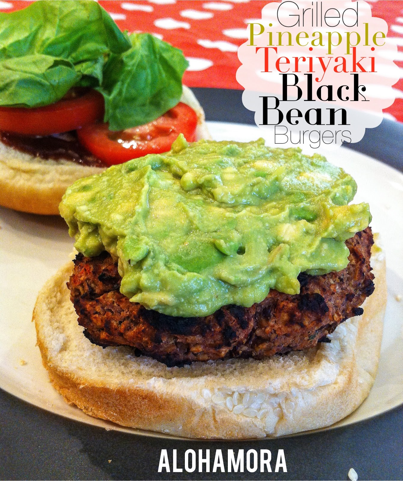 Healthy and delicious Grilled Pineapple Teriyaki Black Bean Burger.  Sweet amazing flavor in a hearty black bean burger.  Even meat eaters will love these.  Alohamora Open a Book http://www.alohamoraopenabook.blogspot.com/