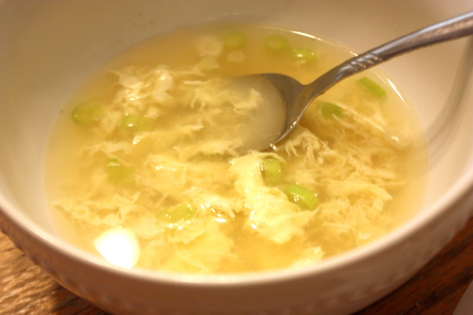 Homemade Egg Drop Soup + Chicken Fried Rice