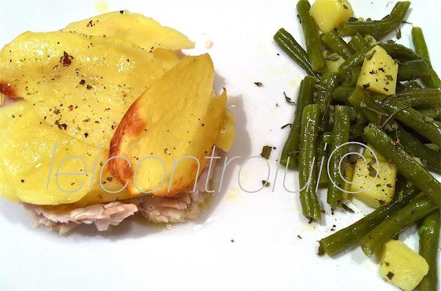 lei: tortino pesce persico con fagiolini