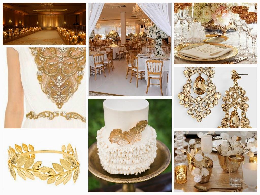 Noiva com Classe Decoração em Branco e Dourado ou Branco e Ouro