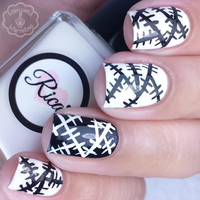40 Great Nail Art Ideas - Black & White Patchwork