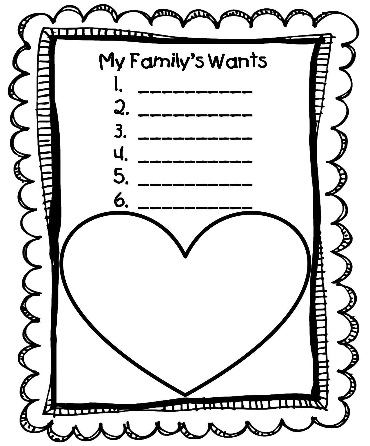 worksheet Wants And Needs Worksheets new 870 family needs worksheets worksheet preschool for unit your mini little click free on here