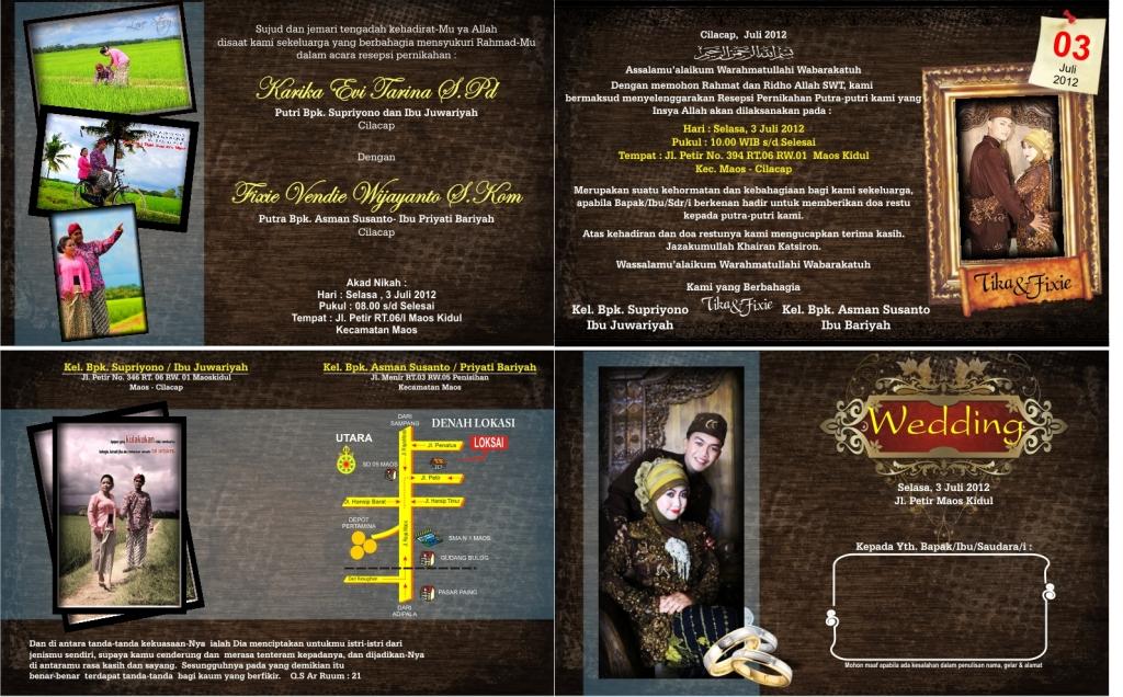 layout undangan pernikahan islami