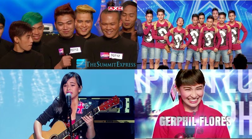 Filipino finalist in Asia's Got Talent: El Gamma Penumbra, Junior New System, Gwyneth Dorado and Gerphil Flores