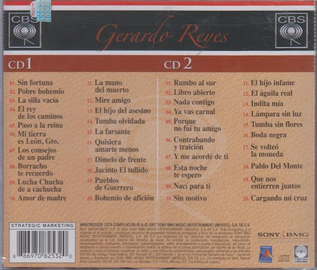 Gerardo Reyes 40 Canciones La Gran Coleccion CD Album