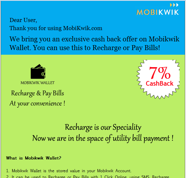 Mobikwik Application Free Recharge Codes