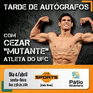Quiosque Sports Arena do Pátio Alcântara recebe lutador de MMA