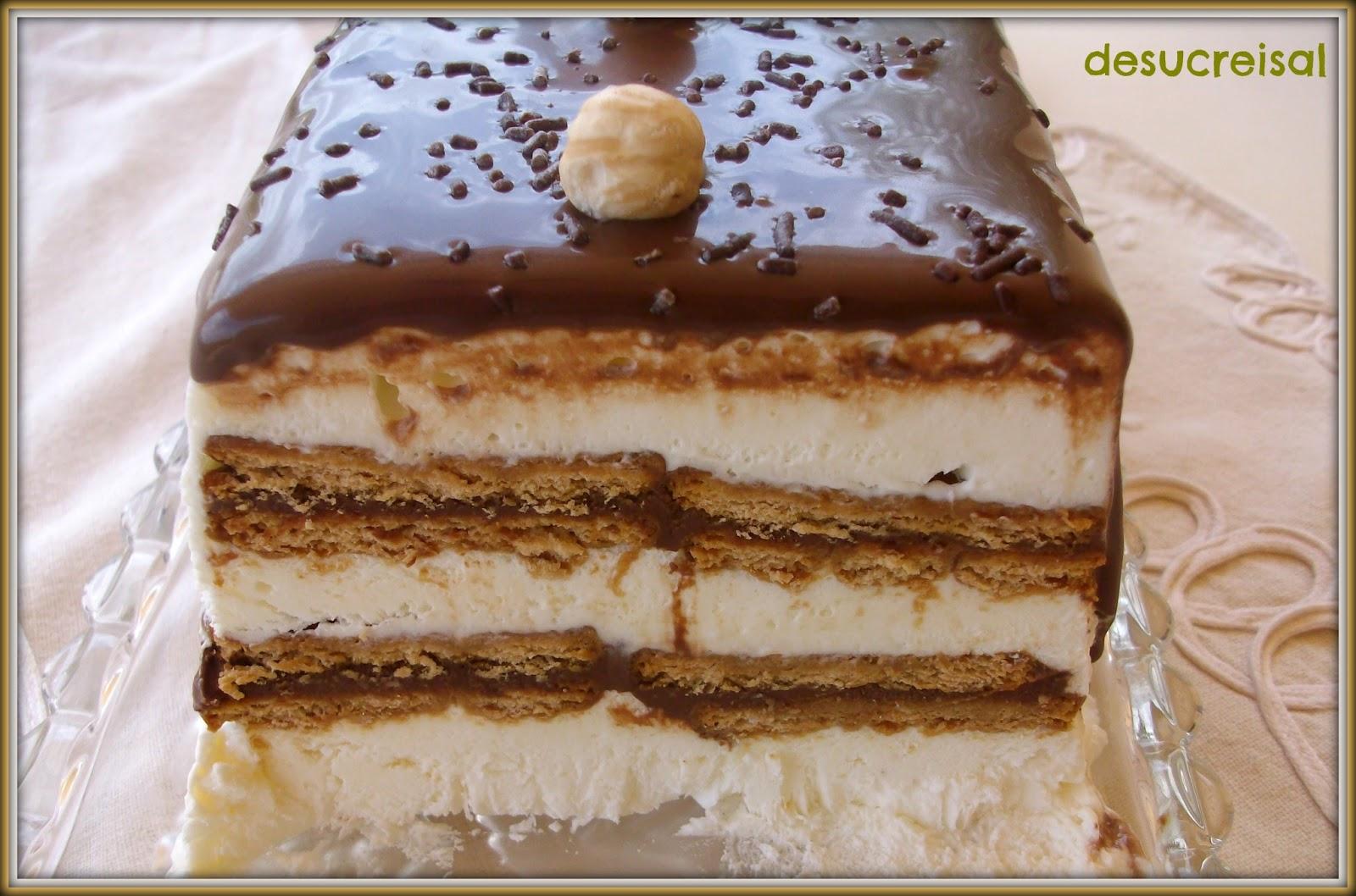 Caramelos y Chocolates: Receta del día: Tarta helada de galletas y ...