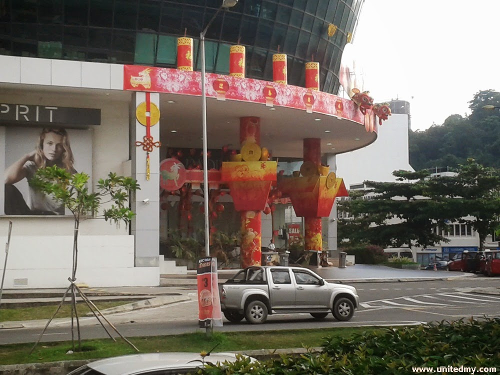 Suria Sabah Shopping Mall CNY 2015 decoration