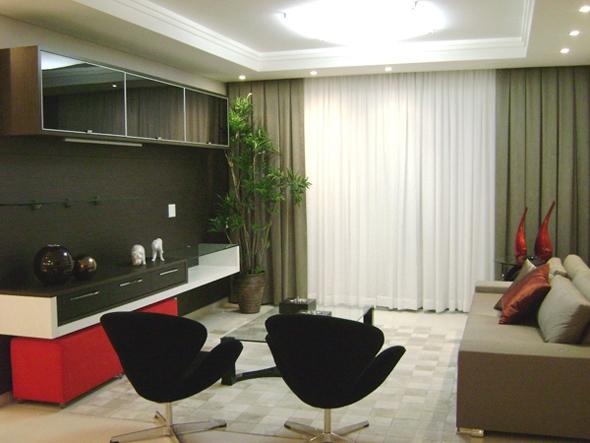 Qual Melhor Tapete Para Sala De Tv ~ as paredes destaque para o quadro e móvel de madeira