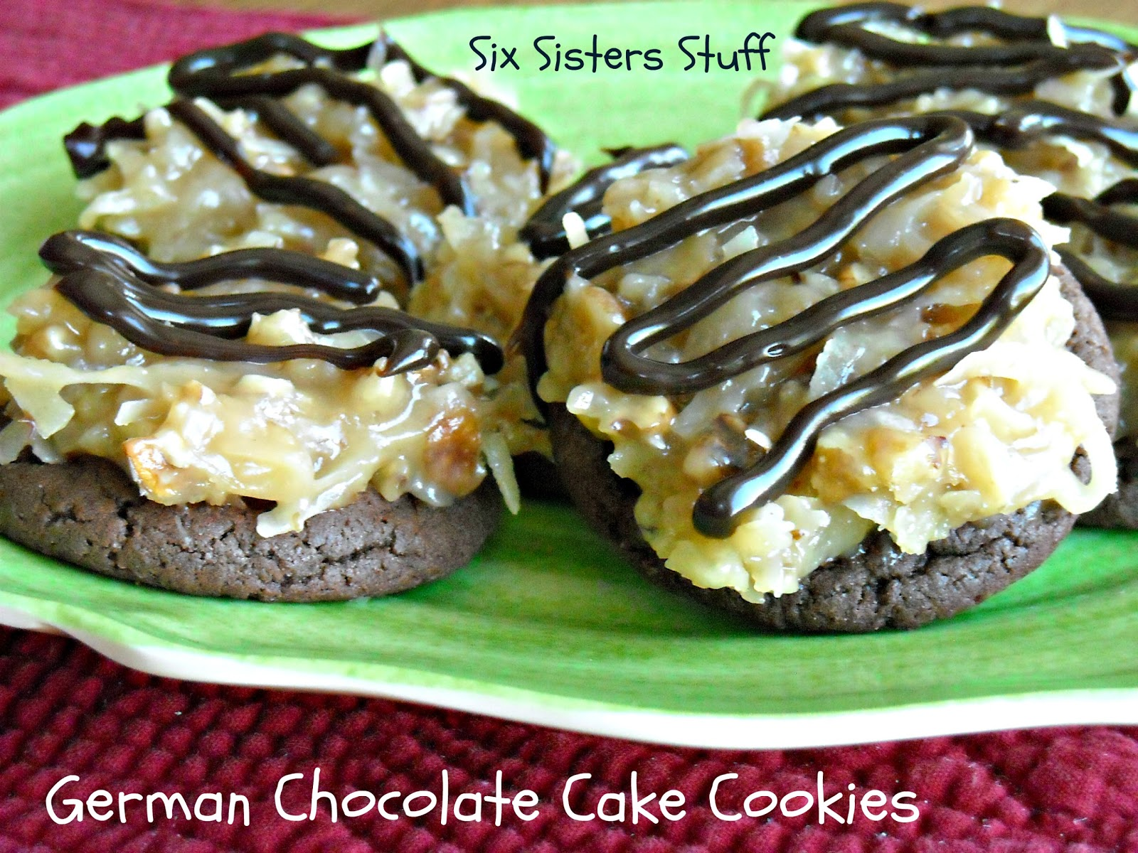 German chocolate cake rolo cookie recipe