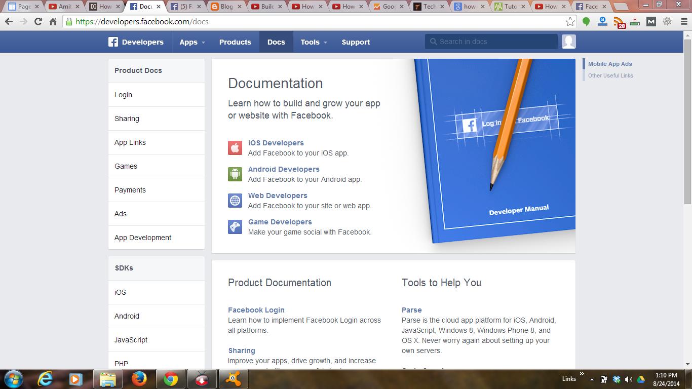 App In Facebook Developers