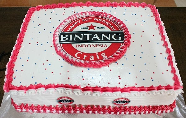 IKA Bali Rectangular cake with Bintang Beer Logo
