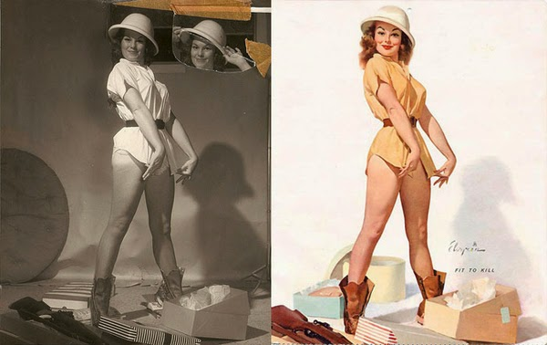 American pin up artist, Gil Elvgren paintings, pin up models-6
