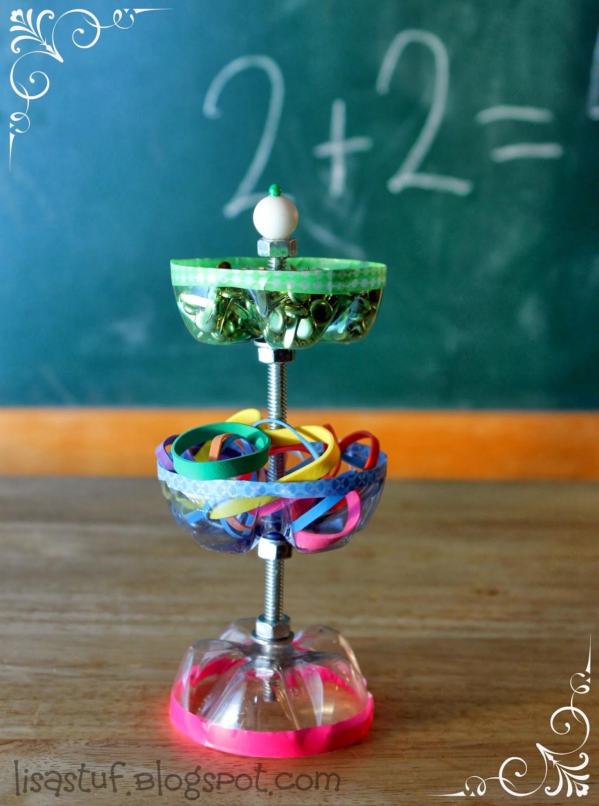 Stuff n such by lisa desk organizer for teacher for Handicrafts made of plastic bottles