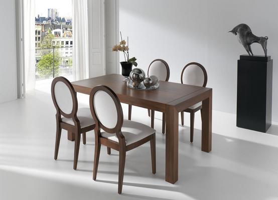 Muebles estilo y decoracion for Comedor 4 puestos madera