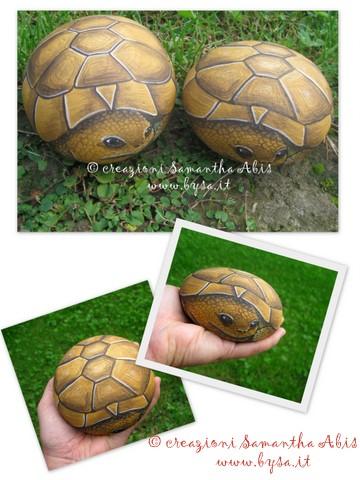 Ritratti di animali bysa tartarughe in sasso dipinte a for Sassi per tartarughe