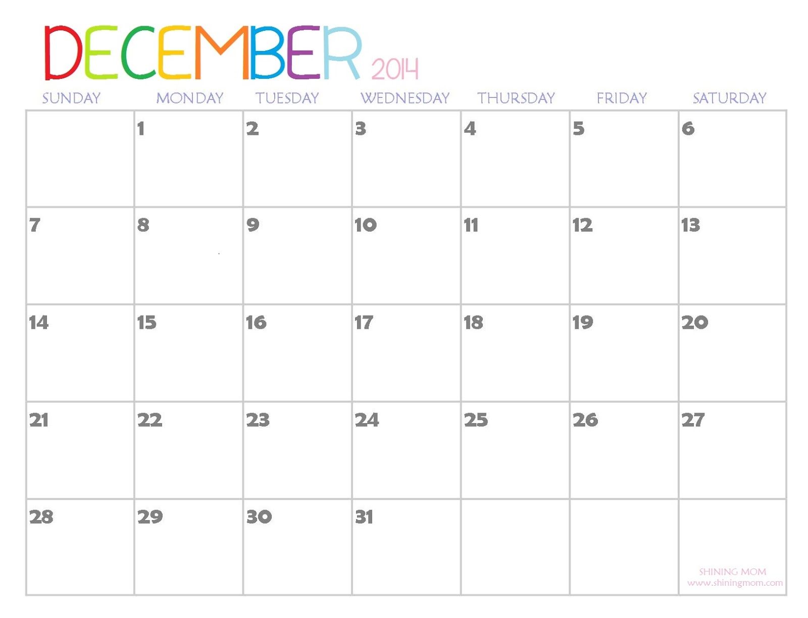 2014 Printable Calendars {Fresh Designs!}