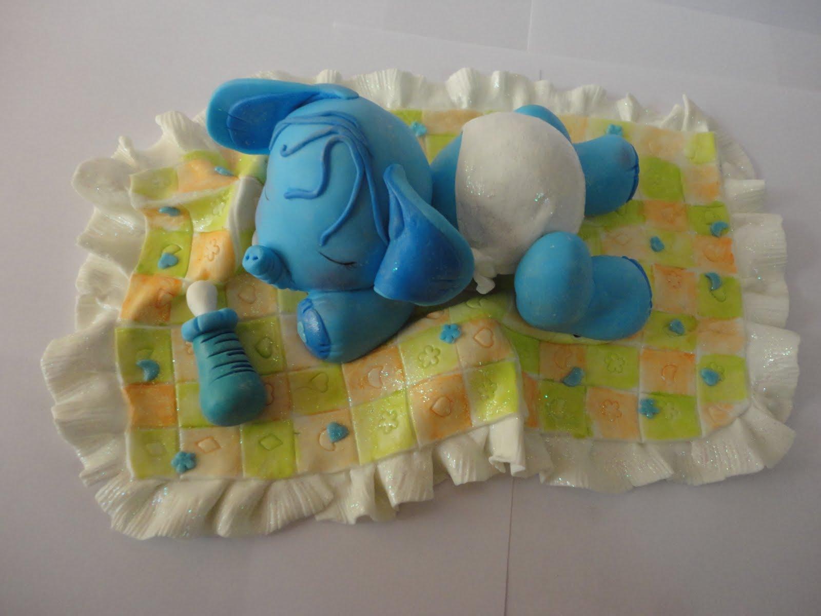 VARIEDADES MI CIELO BELLO: Elefanticos Bebes En Masa Flexible..