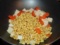 Chinese soya beans and tofu