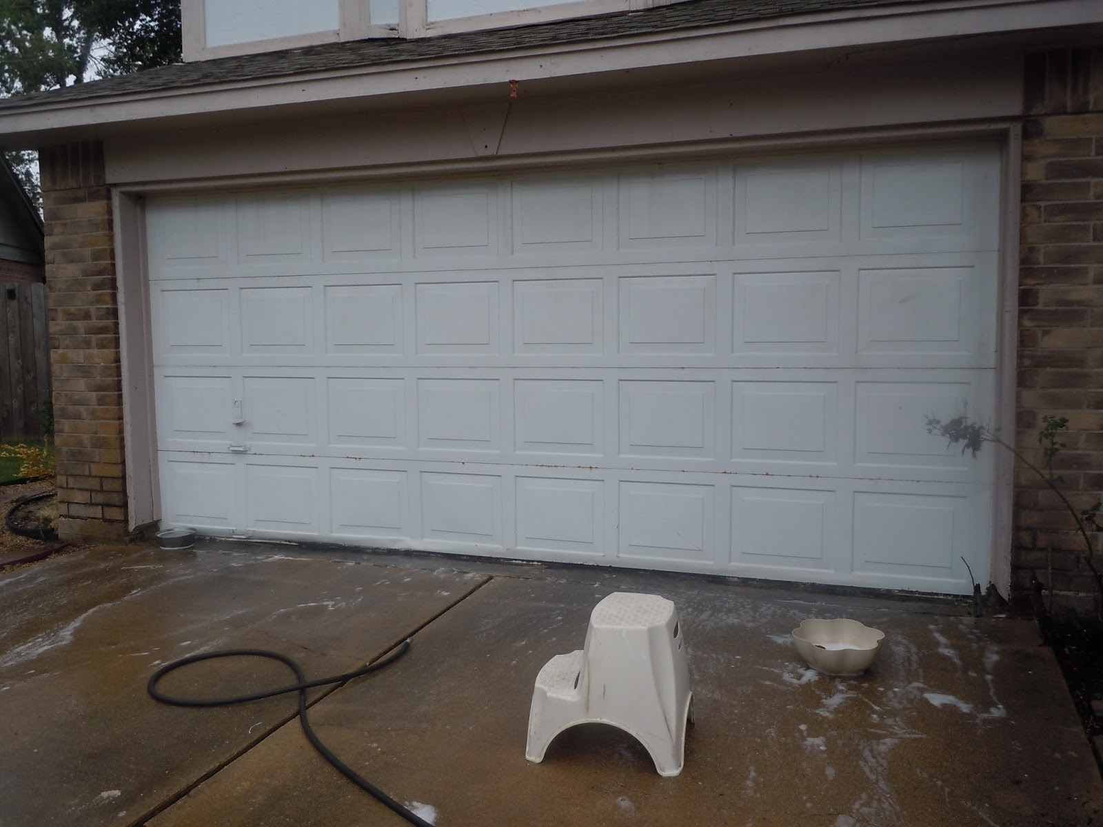 1200 #5A4C3F So The Very 1st Thing I Did Was Clean The Garage Door! pic First Garage Doors 36211600