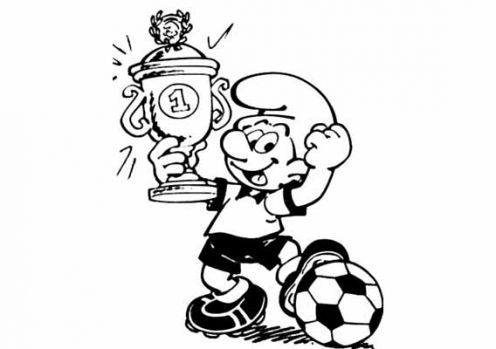 Smurf Coloring Pages on Free Smurfs Football Coloring Pages    Disney Coloring Pages