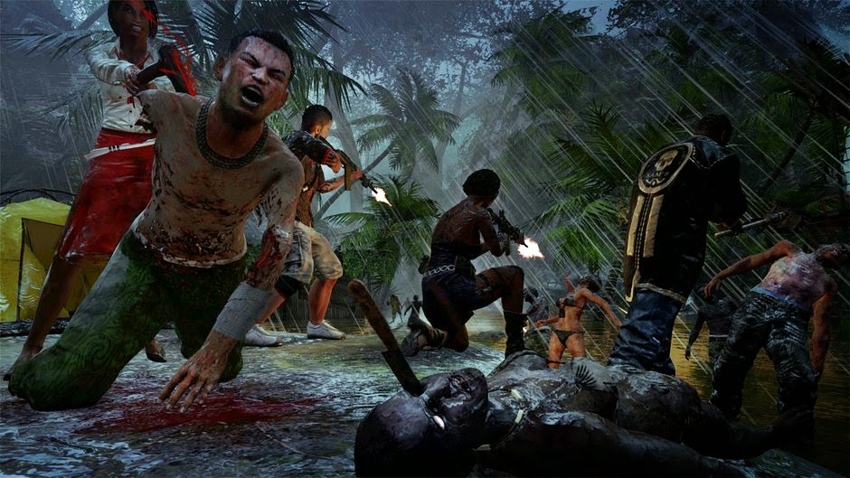 Dead Island Riptide game review picture of team fighting zombies