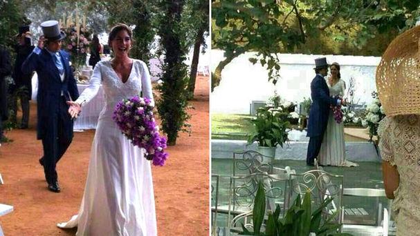 Fran Rivera en su boda con chistera