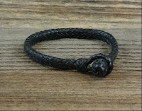 12 Strand Leather Braid Bracelet