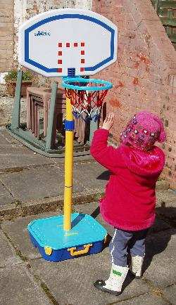 Swingball junior basketball.