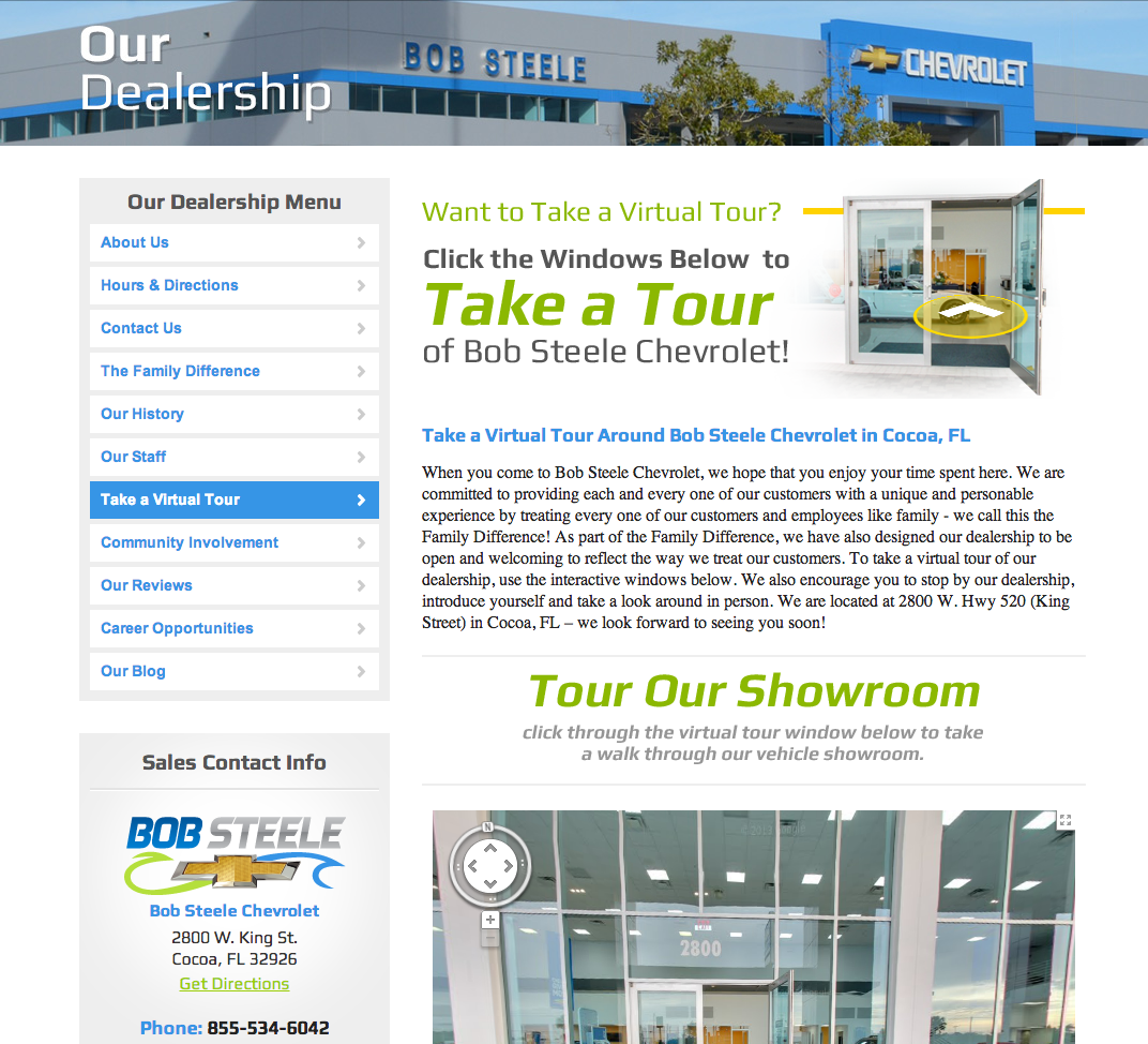 Tour Bob Steele Chevrolet Online