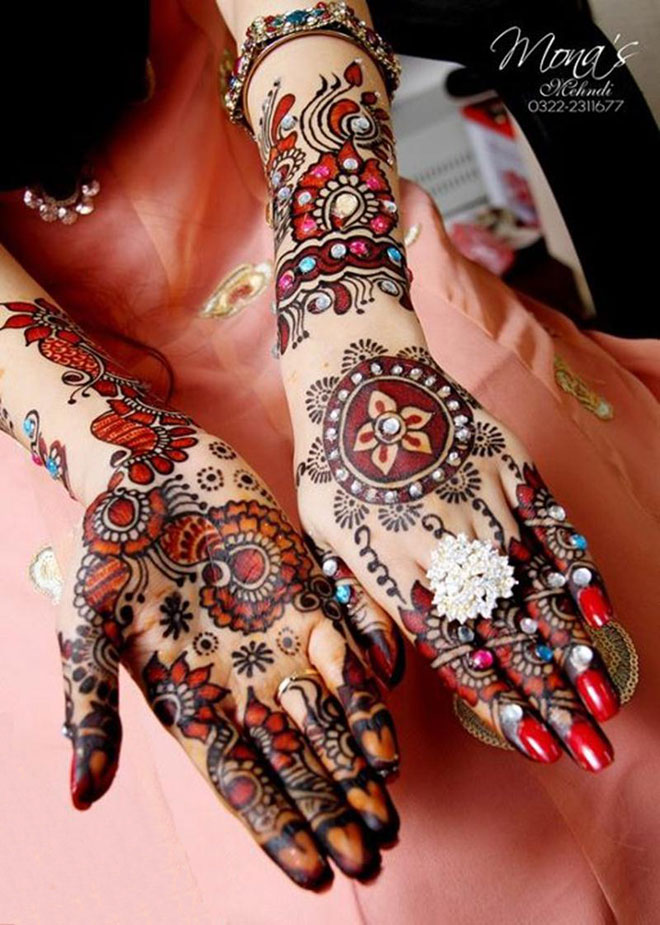 Bridal Paint Mehndi Designs For Girls By Mona Shekhani