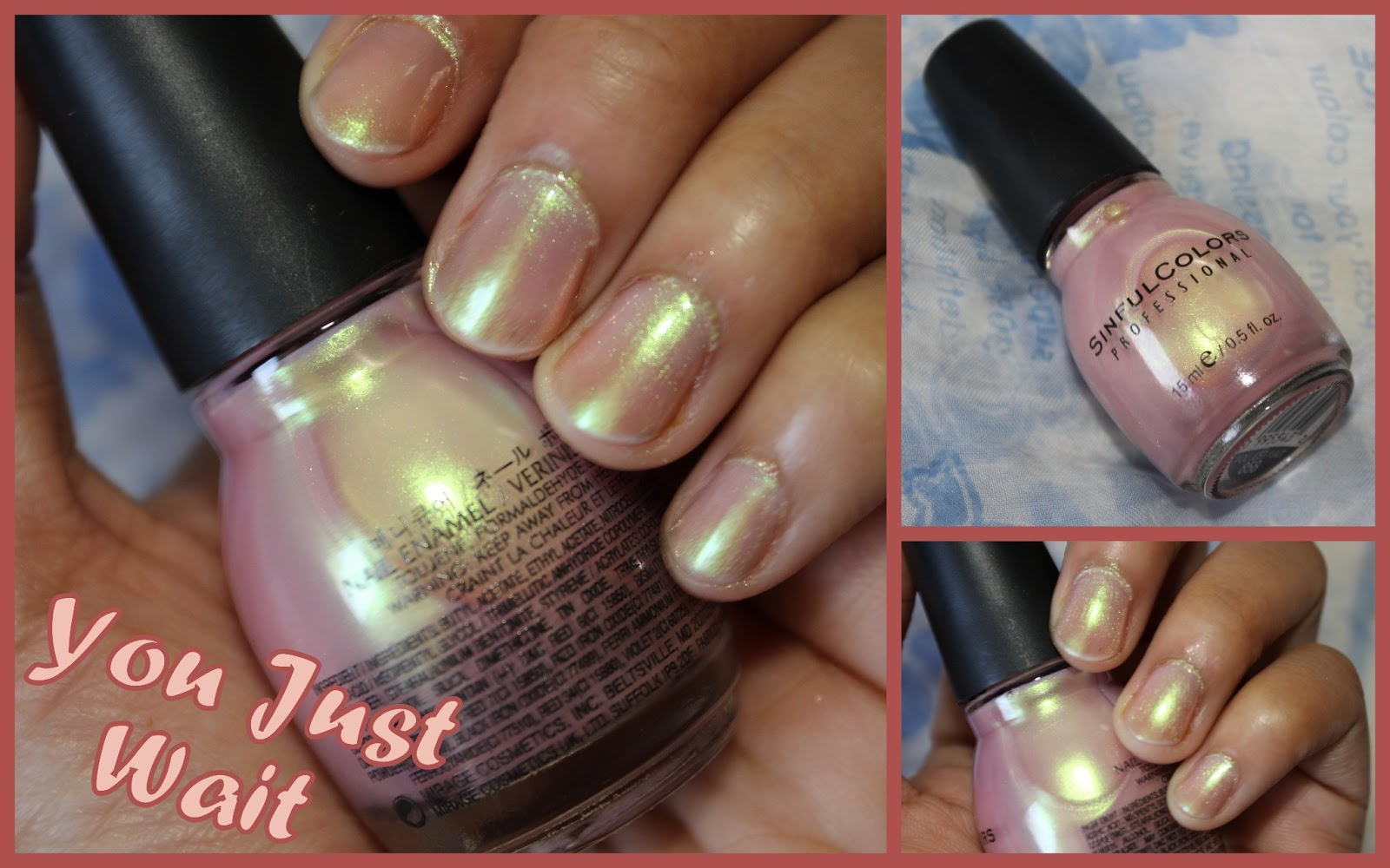 4 Pink toned Nail Lacquers from Sinful colors – Glass Pink, Social ...