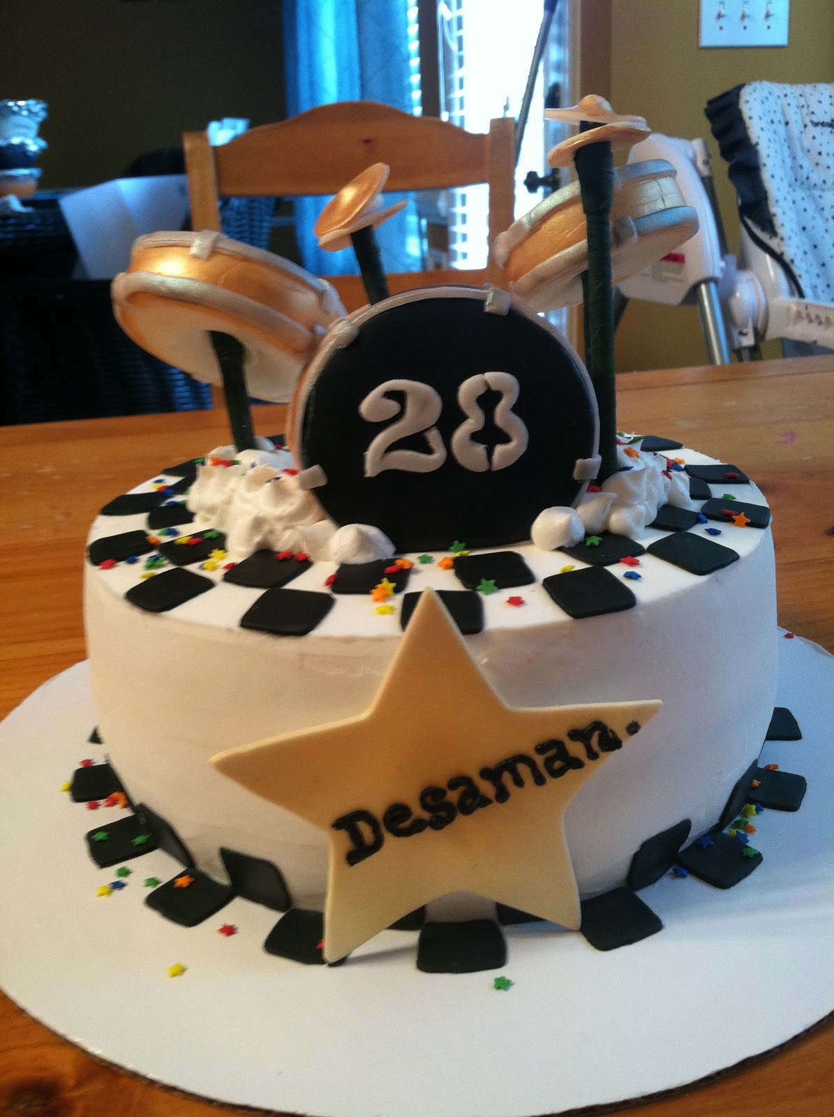 Introducing Drummer Cake For A Drummers Birthday