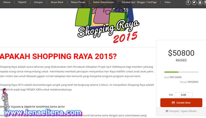 Cara menaja kempen taja shopping raya 2015 Projek  Iqra