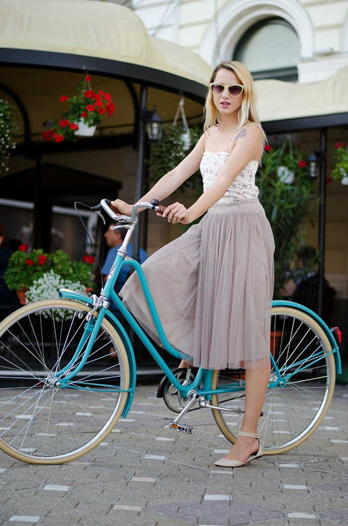 Bicicle TeMe vintage bike tulle skirt