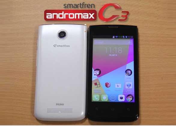 9 Smartphone Android Murah Meriah di Bawah 800 Ribu Rupiah, Smartfren Andromax C3, Spesifikasi Smartfren Andromax C3