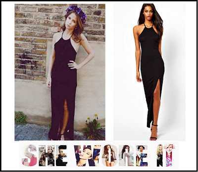 Black, Dress, Thigh Split, Halterneck, In love with Fashion, Jersey, LOVE, Made In Chelsea, Maxi Dress, MIC, Millie Mackintosh, Style Blog,