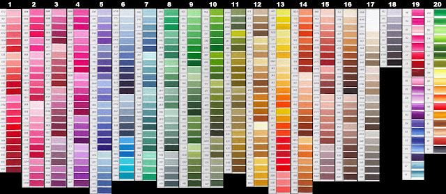 DMC color chart