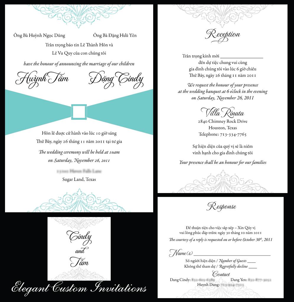 Modern Vietnamese Wedding Invitations ~ Yaseen for .