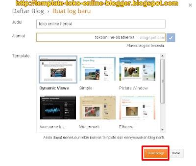 Cara Membuat Blog Di Blogspot Tampilan Terbaru 5
