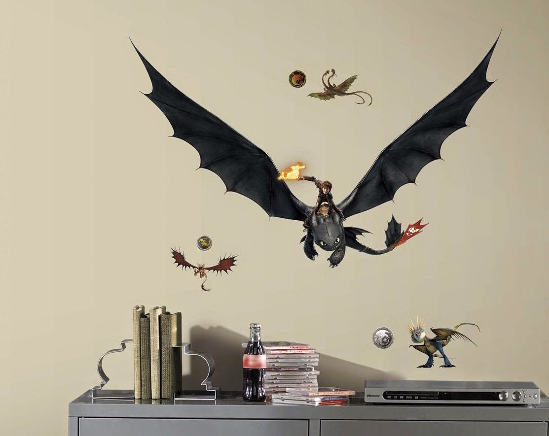 How to Train Your Dragon Wall Decorating