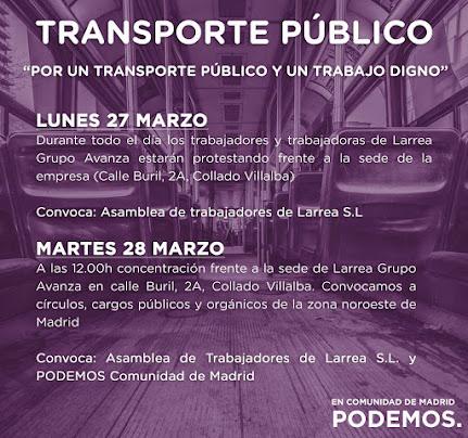 Solidaridad con los trabajadores de Larrea