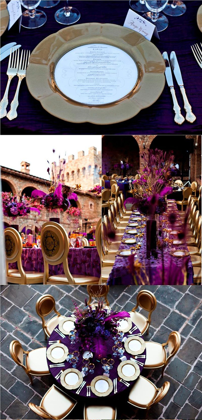 wedding inspiration stunning purple gold decor purple and gold wedding Wedding Inspiration Stunning Purple Gold Decor